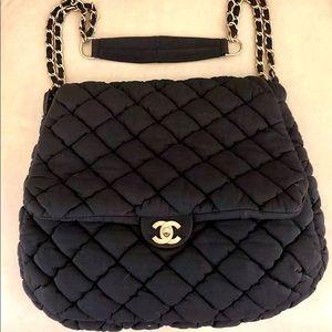 Authentic chanel fabric bag
